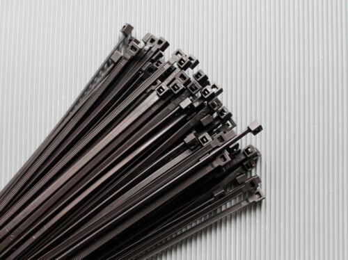 Fascette PER CAVI NERO in diversi formati resistente ai raggi UV 100//200//500//1000 St.