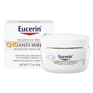 Eucerin Q10 Anti-Wrinkle Sensitive Skin Face Creme 1.7 oz. Magic Shave Bump Rescue Spot Treatment, 0.33 oz (Pack of 6)