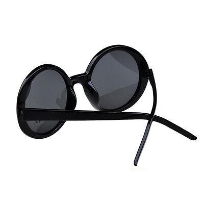 Fashion Eyewear Unisex Retro Full Round Frame Classic Sunglasses Black