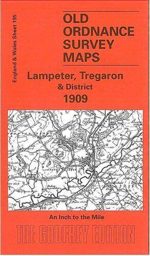 OLD ORDNANCE SURVEY MAP LAMPETER, TREGARON & DISTRICT 1909