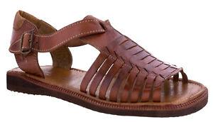 Details about Mens Cognac Authentic Mexican Huaraches Sandals Genuine  Leather Open Toe Size 13