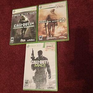 Call of Duty: Modern Warfare Trilogy (Microsoft Xbox 360, 2016) 3 Disc Bundle