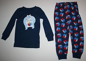 NEW Gymboree Boys Holiday Yeti Monster Blue Pajamas Gymmies PJs 3 4 ... 4d9dd0cb0