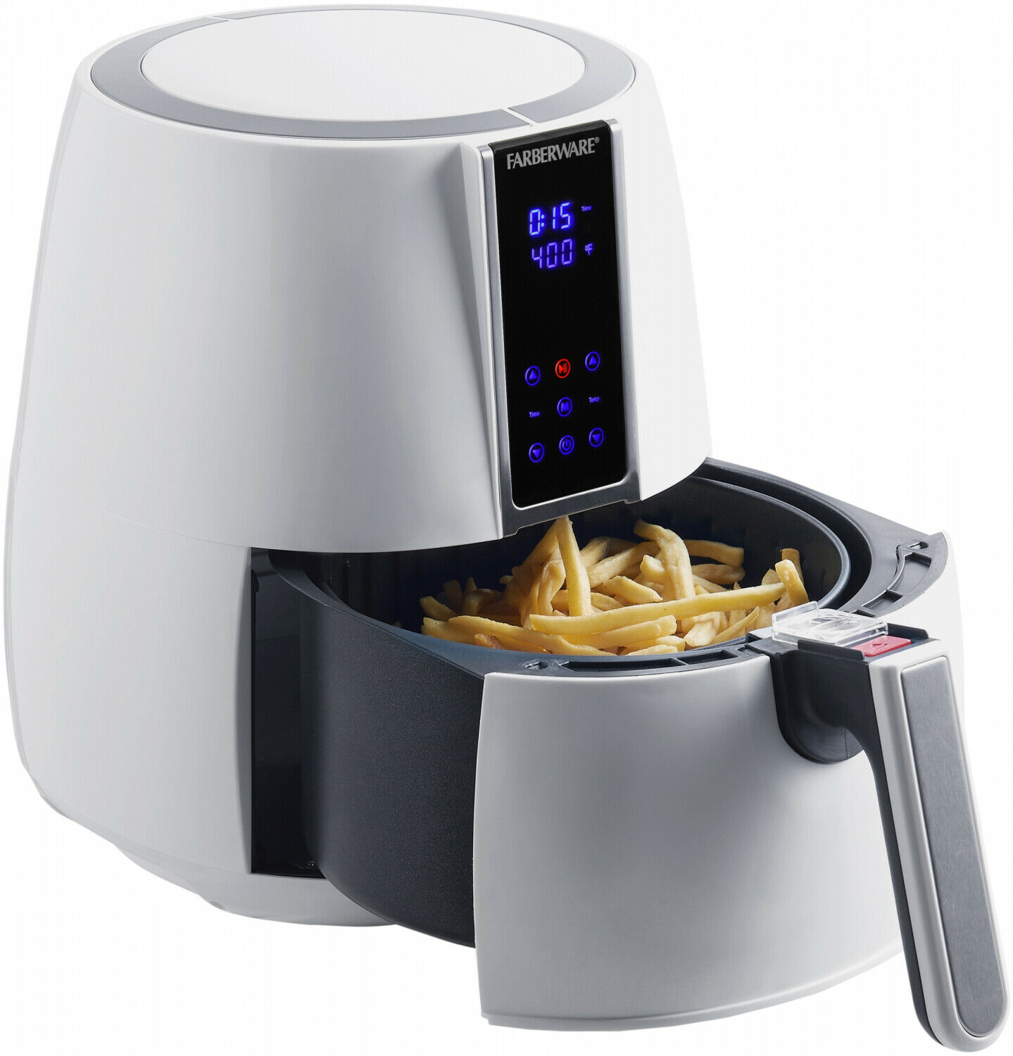 Couleurrware Healthier Alternative Fryer 3.2 - quart digital pétrole moins Friteuse L Blanc