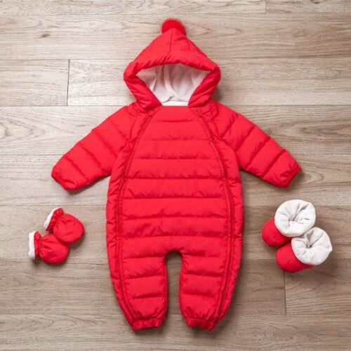 Newborn  Boys Girl Romper Thick Warm Clothes White Duck Down Winter Jumpsuit