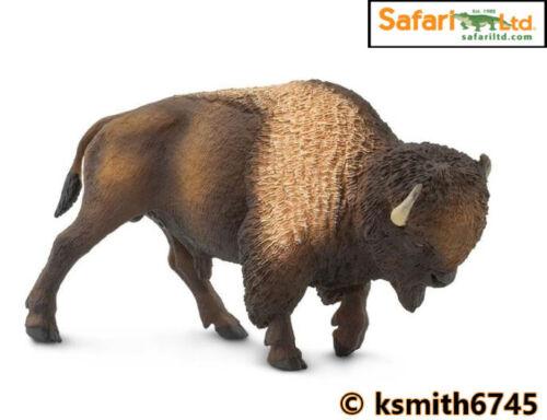 Safari 2018 BISON solid plastic toy figure wild zoo American animal NEW *