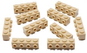 LEGO-10-x-Konverter-Stein-Konverterstein-1x4-beige-Tan-30414-NEUWARE