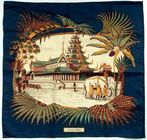 Vintage Jim Thompson 100% Silk Pocket Square Thai