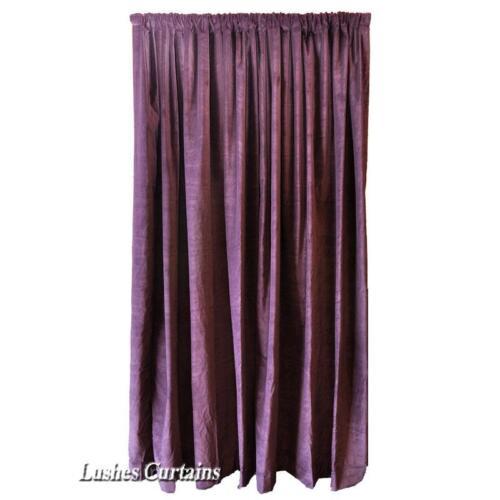 Purple Velvet Curtain Panel 10/'H Long Theater Stage Sound Dampening Velour Drape