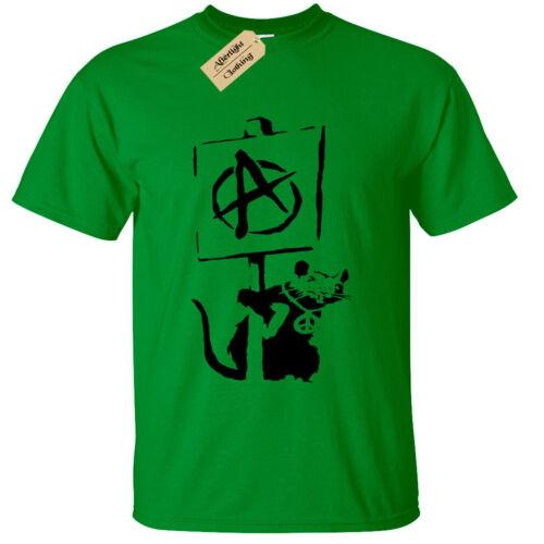 Kids Boys Girls BANKSY ANARCHY RAT T-Shirt tee cool street art graffiti hipster