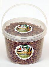 Supa Dried Mealworms Wild Bird Food Robin Blackbird Thrush Feed 5000ml 5 Litre