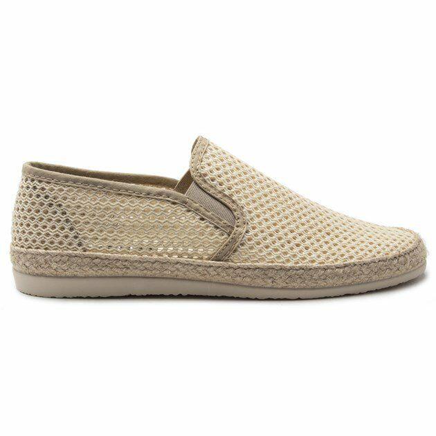 SOLE Mens Joiner Espadrilles Shoes Natural