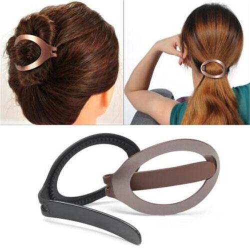 Women Hair Barrette Styling Clip Bun Maker Braid Tool Hairpins Accessory LH