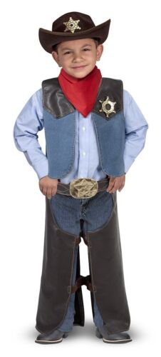 MELISSA & Doug Costume da Cowboy Set Gioco di Ruolo-Comprende Faux Leather Chaps 14273