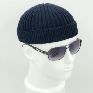 2b6d3081d40 Men Knitted Hat Beanie Skullcap Sailor Cap Cuff Brimless Retro Navy ...