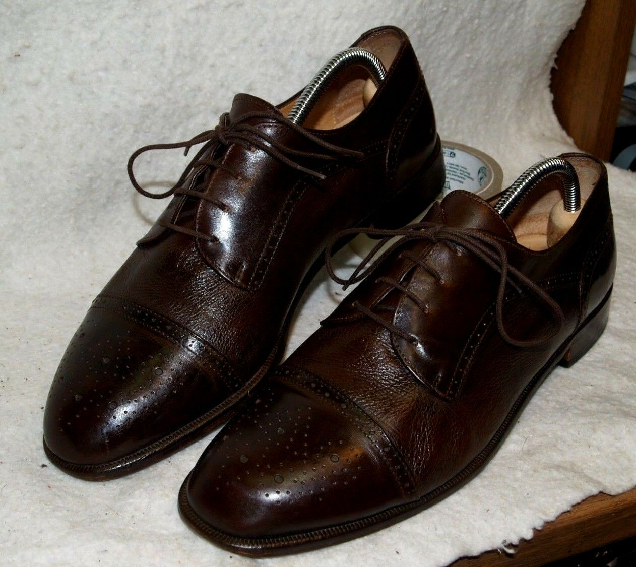Vintage Vito Rufolo Oxford Dress shoes Leather Soles Men`s 9 1 2 M Made in