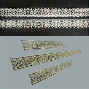 4-Bordueren-Blueten-Holz-Ornament-schmal-Walltattoo-Verzierung-Moebel-Laserschnitt