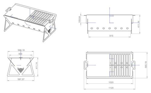 DIY Grill DXF files for plasma BBQ laser water cutting or for CNC machines