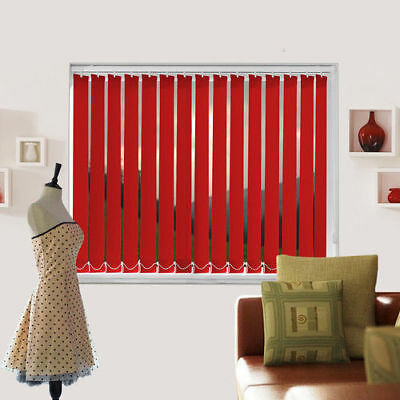 Banlight Duo Scarlet Blackout Red Details about  /Complete Made To Measure Vertical Blind