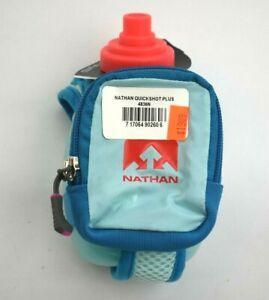 Nathan-Quickshot-Plus-Water-Bottle-Blue-amp-Pink-Running-Hydration-Flask-10-oz