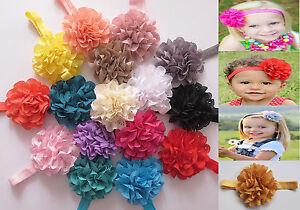 baby girls flower hairband soft elastic headband hair