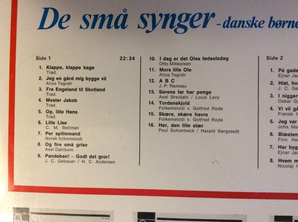 LP, Nyborg-Jensen piger og drenge, De små synger