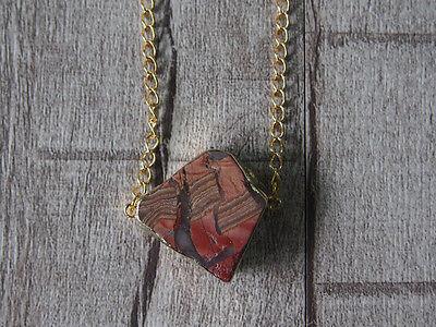 Raw Gemstone Pendant Rought Natural Gemstone Emperor Stone Statement Necklace