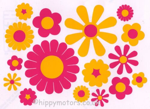 Pink Flower car stickers Daisy Gerbera car stickers caravan camper van decal