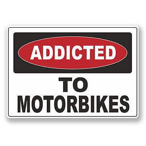 Warnung 10cm Laptop 6534 Aufkleber Vinyl Fahrrad X Spaß Geschenk 2 Motorrädern nach süchtig pnOqUx85