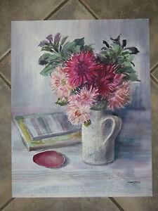 Bouquet-de-Fleurs-aquarelle-epoque-20eme