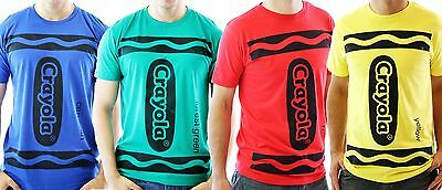 CHOOSE COLOR: Adult Art Crayola Crayon Red Green Blue Yellow Costume T-Shirt Tee