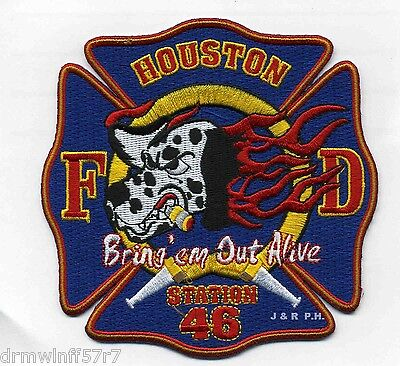 "4.5/"" x 4.5/"" size Houston  Station-46  /""Bring Em Out Alive/"" Texas fire patch"