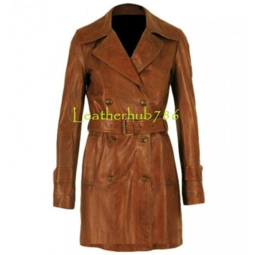 Leather da Real 13 Wear Trench Lambskin Coat Brown Designer Casual donna Giacca New F6wqx86g