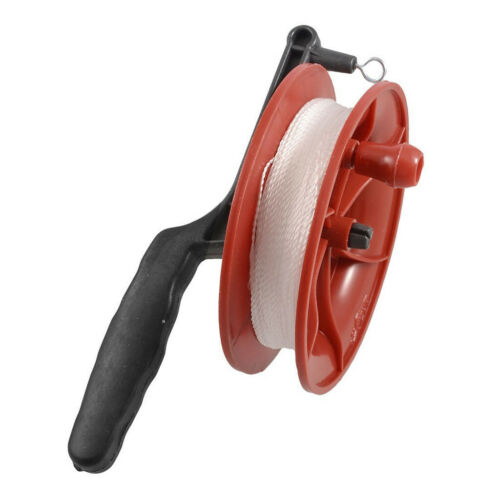Red Fire Wheel Kite Reel Handle with 100M Twisted String Line Accessory
