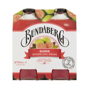 Bundaberg Guava Flavoured Sparkling Drink Multipack Bottles 375mL 4 pack