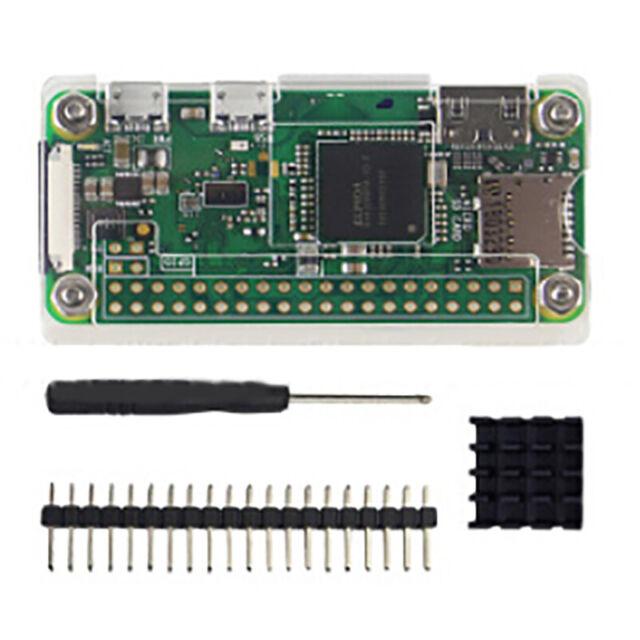 4 in 1 kit Acrylic Case for Raspberry Pi Zero 1.3/W with Heat sink TDC