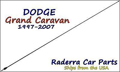 "1997-2007 Dodge Caravan 21/"" Black Spring Stainless AM//FM Antenna Mast Fits"