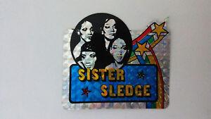 Sister-Sledge-pop-disco-group-SMALL-STICKER-Vintage-logo-music