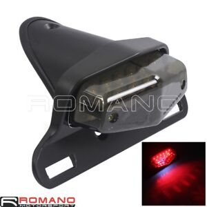 Motorcycle-Black-LED-Brake-Taillight-License-Plate-Mount-For-Harley-Cafe-Racer