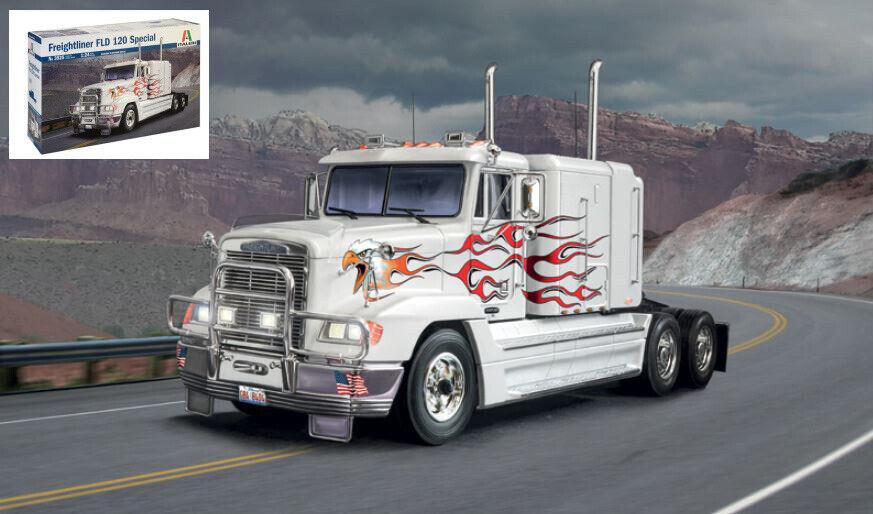 Freightliner FLD 120 Special Truck Camion Plastic Kit 1 24 Model 3925 ITALERI