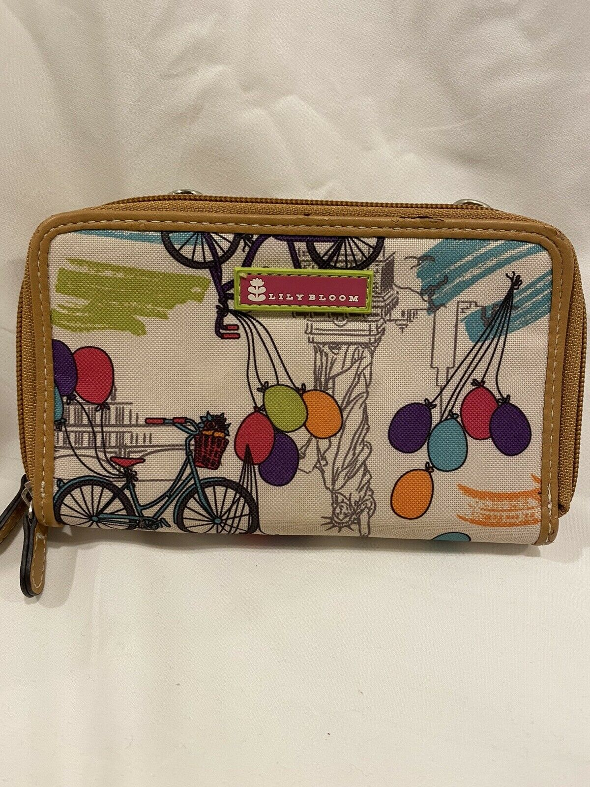 Lily Bloom Wallet Bike And Balloon Pattern Zipper