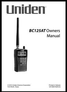 uniden bearcat police fire scanner owners manuals ebay rh ebay ie Uniden User Manuals Uniden 5.8 GHz Manual