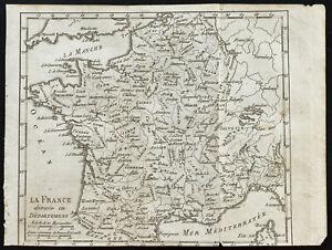 1803-Mapa-antigua-La-France-dividido-en-departamentos