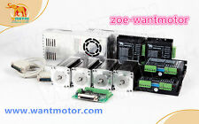 Free to EU!Wantai CNC Kit 4Axis Nema23 Motor 425oz-in single shaft 4.2A&Driver