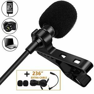 Tikysky Lavalier Microphone for iPhone Android Cell Phone Camera,Lapel Mic Noise