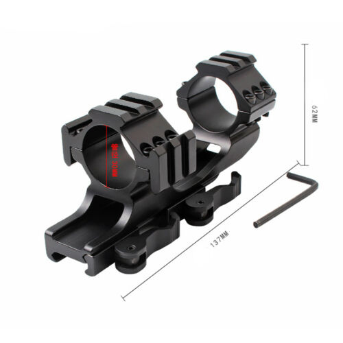 """Xhunter Rifle Quick Release Scope Mount 1/"""" 30mm Dual Rings Picatinny Weaver Rail"""