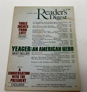 Reader's Digest Magazine November 1985 Ronald Lampitt Vintage Ads