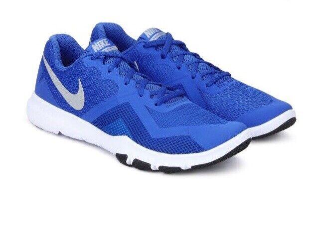 Men Nike Flex Control II Signal Training bluee Metallic Silver shoes 924204-403