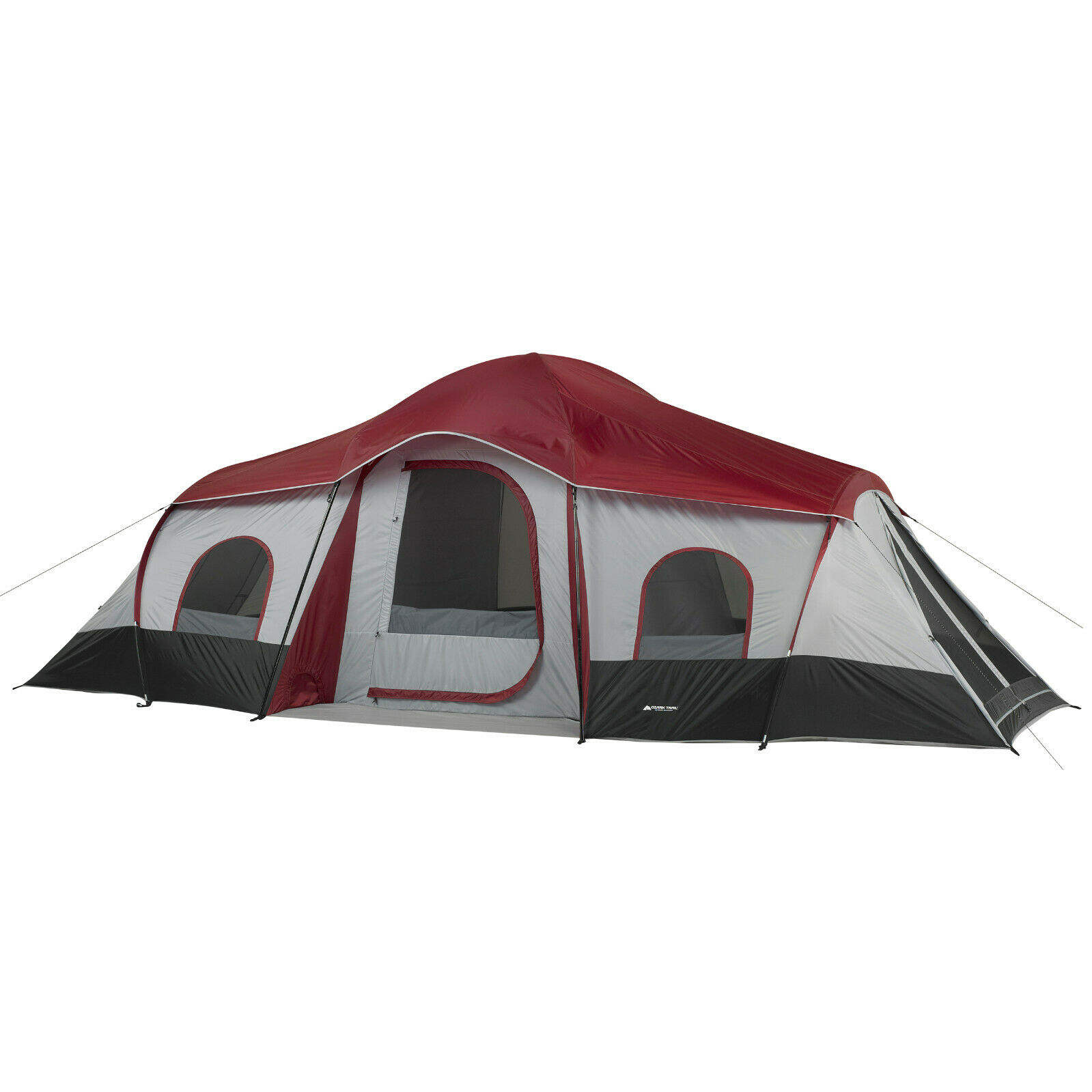 Awesom Trail 10-Person  3-Room Cabin Tent with 2 Side Entrances  free shipping