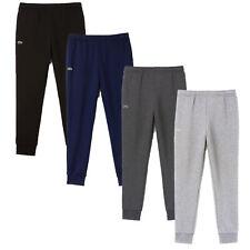 Lacoste Men's Jog Pants Essential Drawstring Cotton Jogging Bottoms Cuffed